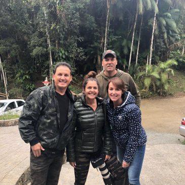 18 e 19 de agosto de 2018. Mostrando as aves da Trilha dos Tucanos para os amigos Marina Berti, Gláucia Mattos e Carlos Adilson.