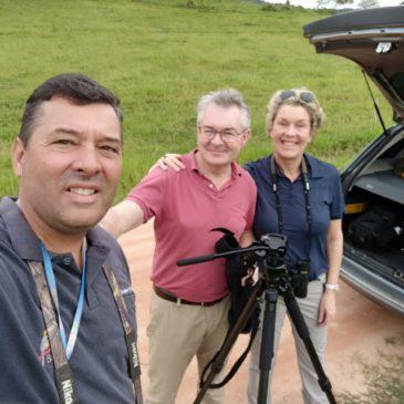 24 de fevereiro de 2020. Saída para observação de aves na Serra da Bocaina com o casal belga Peter Vandeputte e Katrien.