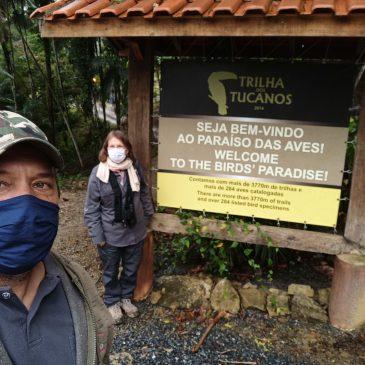 02 a 04 de Junho de 2020. Expedição para observação de aves na Trilha dos Tucanos com a geóloga Israelense Naomi Porat